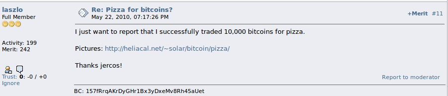 pizza com bitcoin