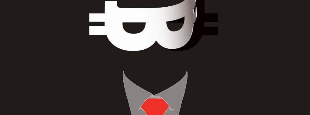 Satosho Nakamoto com máscara