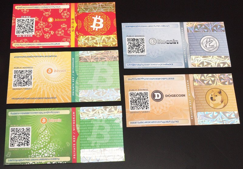 carteiras de bitcoin paper