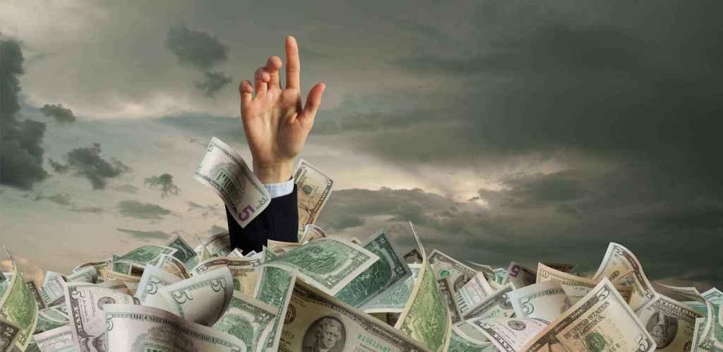 Afogamento em dinheiro Tether