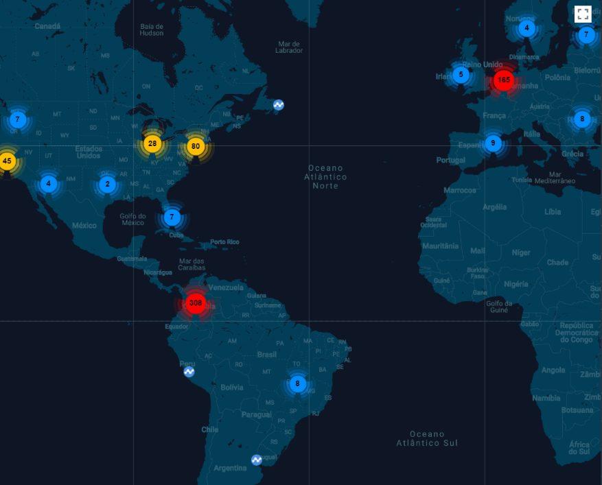 Gráfico mostrando a distribuição da rede Nano
