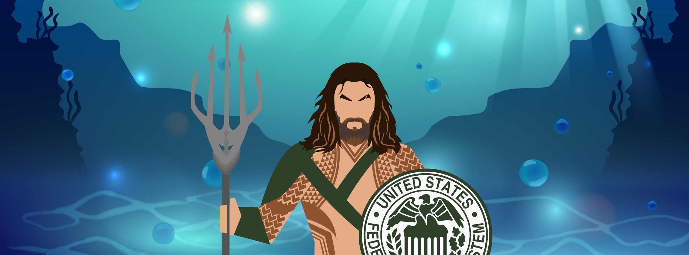 Aquaman com escudo do FED