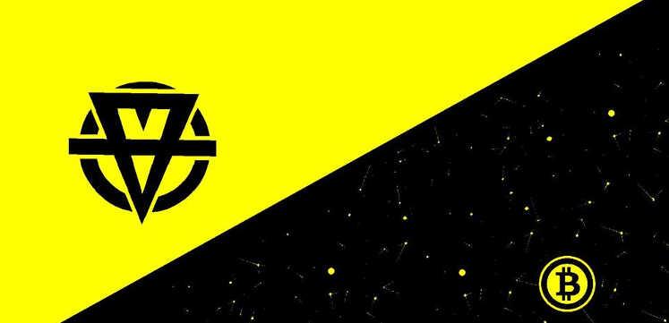 bandeira libertário com bitcoin