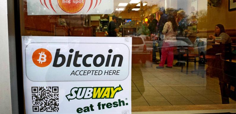 PME aceita bitcoin - foto da Subway aceitando BTC