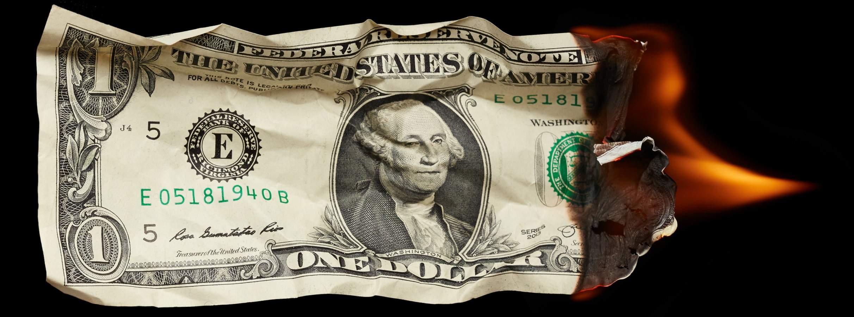 destruição do dinheiro estatal
