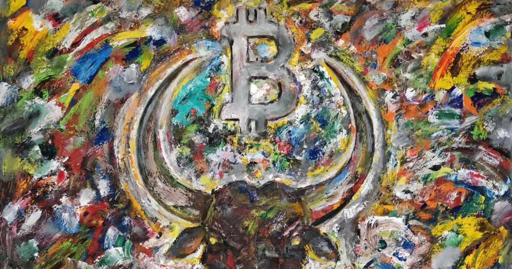 arte com bitcoin e blockchain