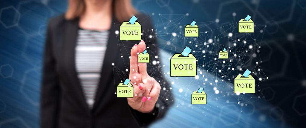 votação em blockchain eleições