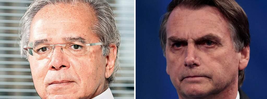 bolsonaro e paulo guedes para economia brasileira