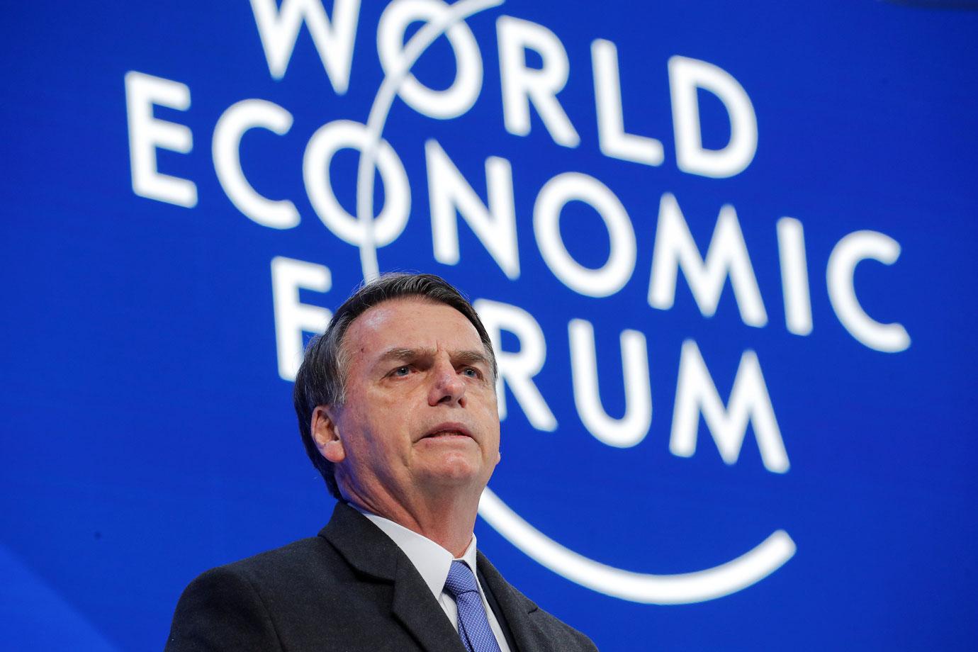 """Bolsonaro em Davos: """"Vamos abrir a economia brasileira"""""""