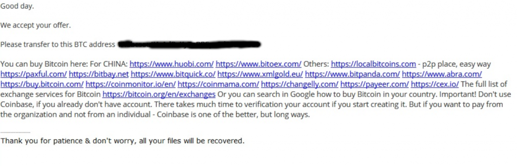 ransomware aviso o que fazer?