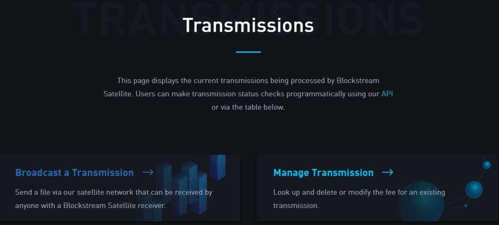 transmissão via satélite usand bitcoin