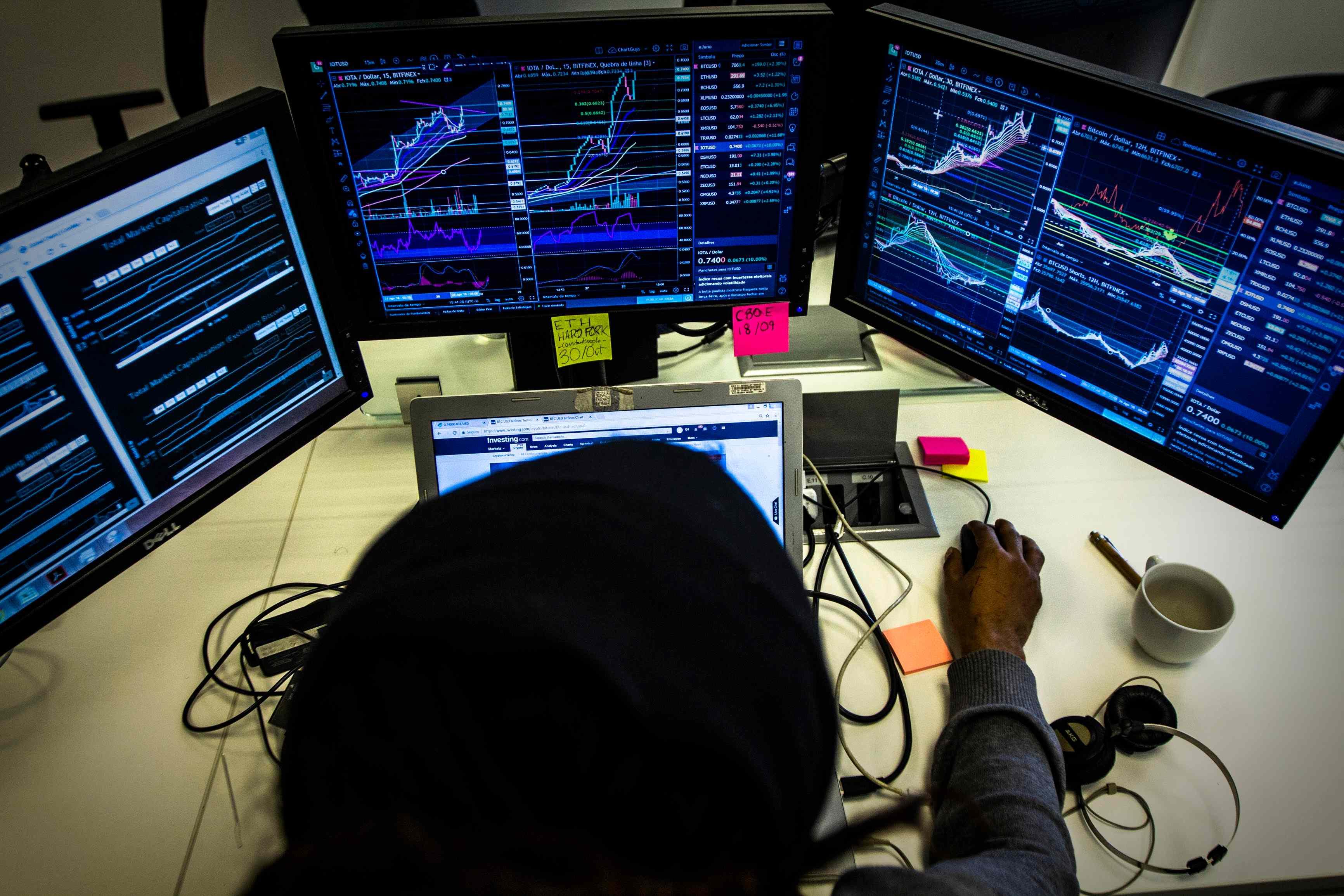 traders apostando contra o bitcoin