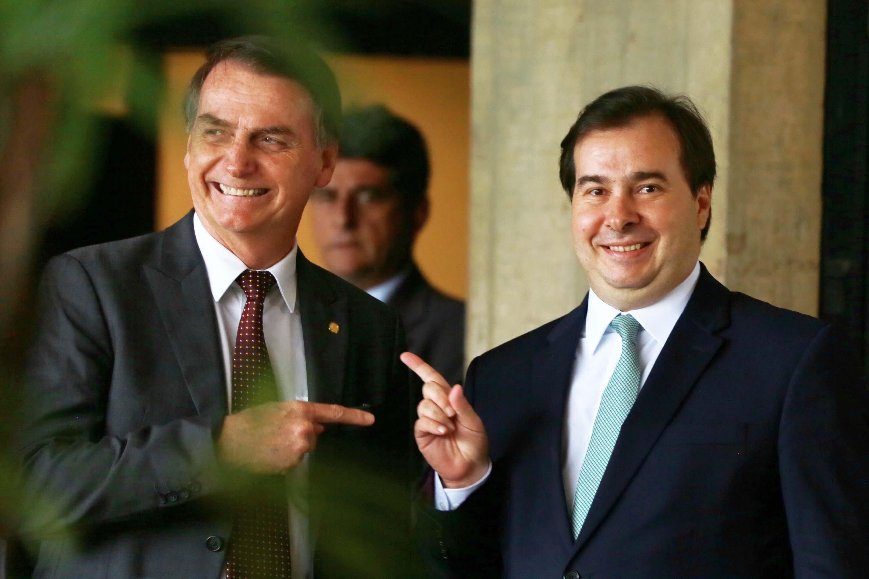Maia e Bolsonaro reunidos