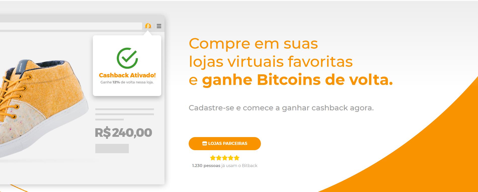 Startup brasileira é a primeira no país a implementar cashback em Bitcoin