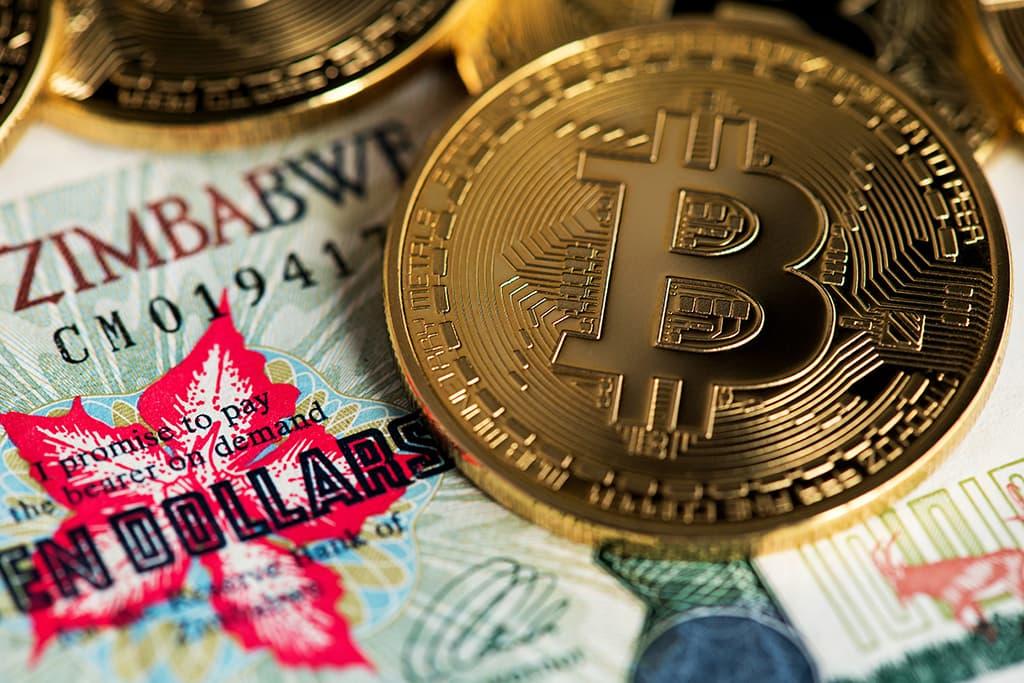 Bitcoin está sendo vendido com premium de 650%, por $75 mil no Zimbabwe