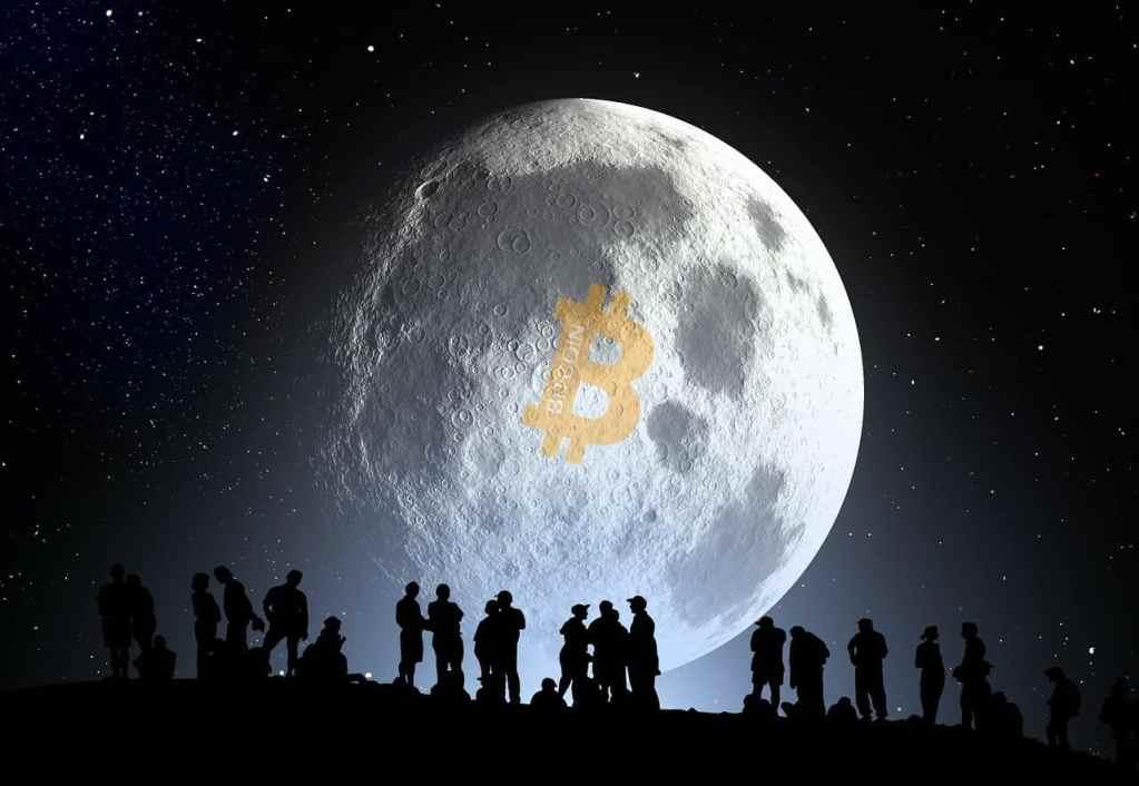 1 bitcoin to the moon