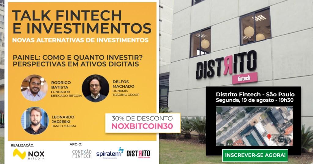 talk fintech e investimentos