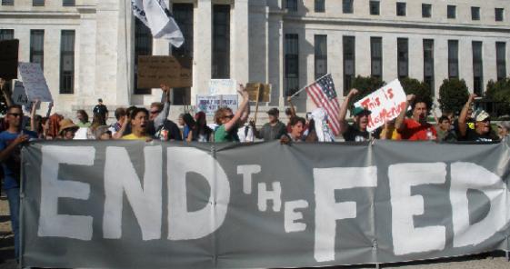 protestos para o fim do fed