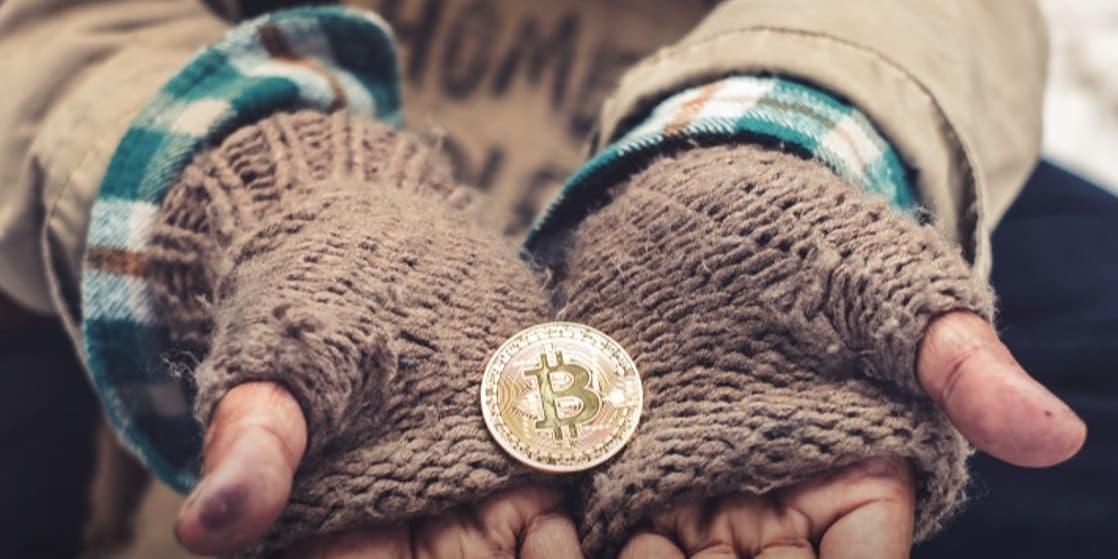 Filantropia esmola bitcoin