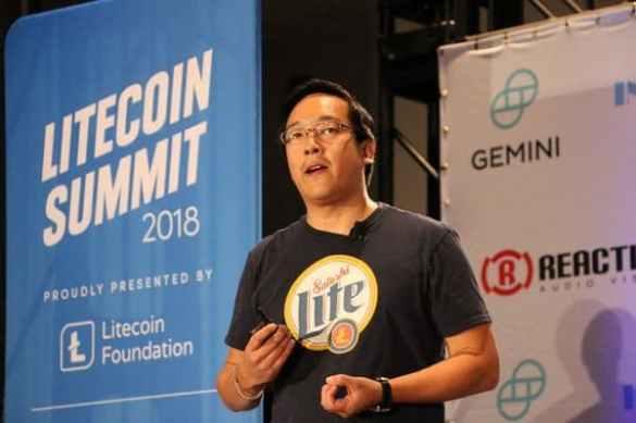 Fundação Litecoin Charlie Lee na conferência