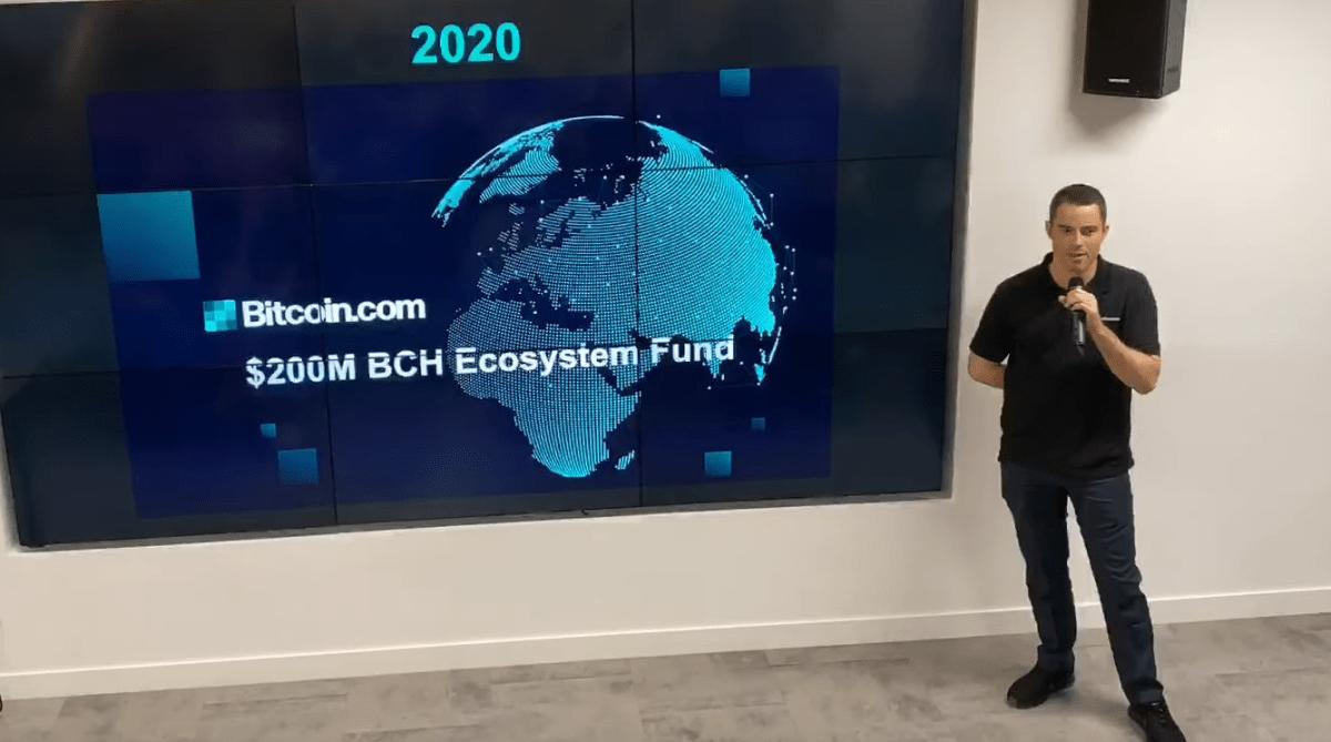 Roger Ver lança fundo de US$ 200 milhões para o Bitcoin Cash