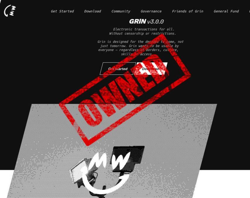 Cuidado: Site da Grin foi tomado por golpista