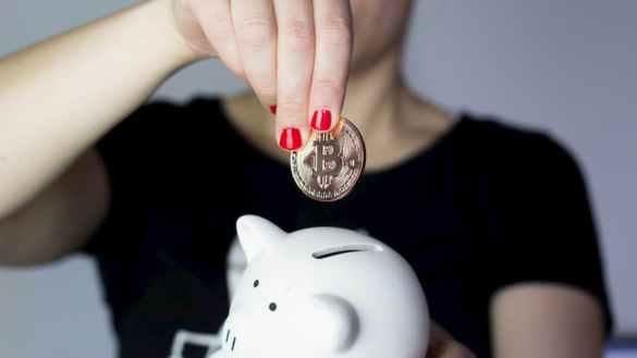 Bitcoin no cofrinho para poupar dinheiro