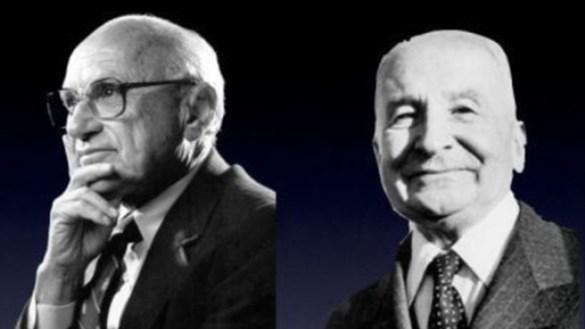 Hayek e Friedman os pais da economia