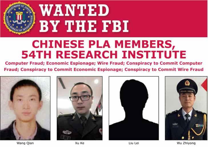 EUA acusam chineses de roubar dados financeiros de 150 milhões de americanos