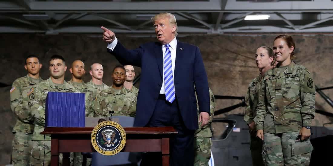 Donald Trump considera usar os militares contra o coronavírus