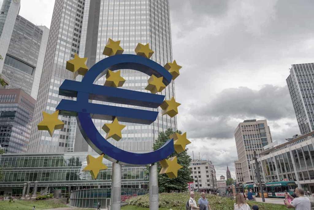 Banco Central Europeu, em Frankfurt, Alemanha