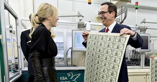 Mnuchin impressora de dinheiro