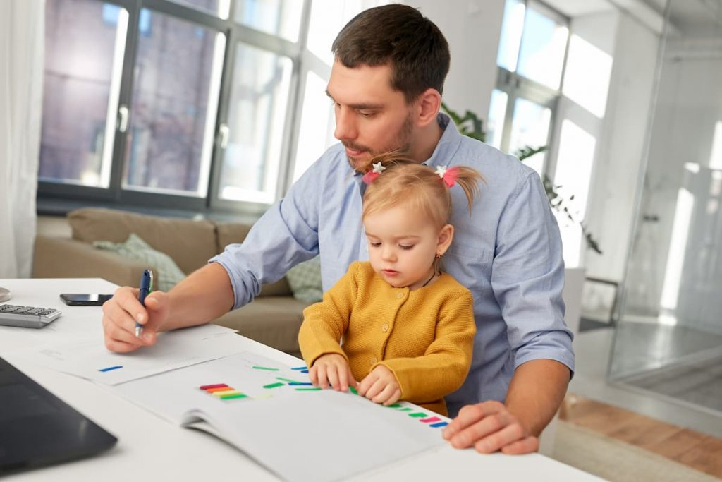 Home Office com crianças
