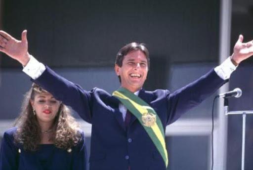 Fernando Collor tomando posse da Presidência