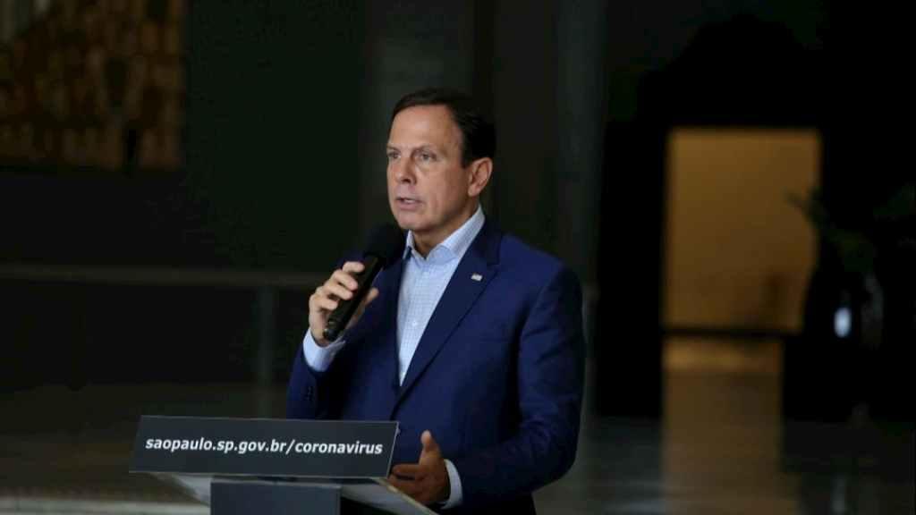 João Doria falando sobre Quarentena