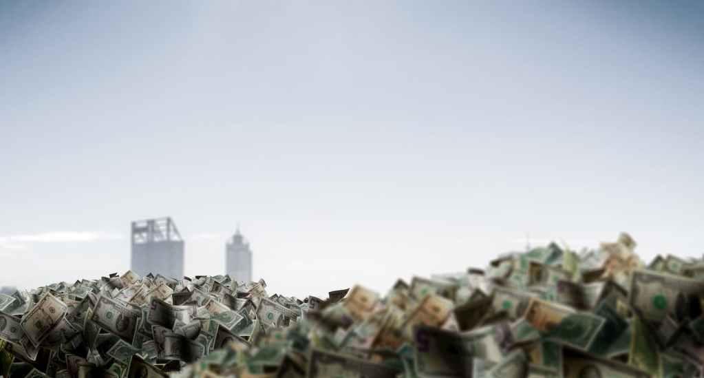 Cidade atolada de dinheiro