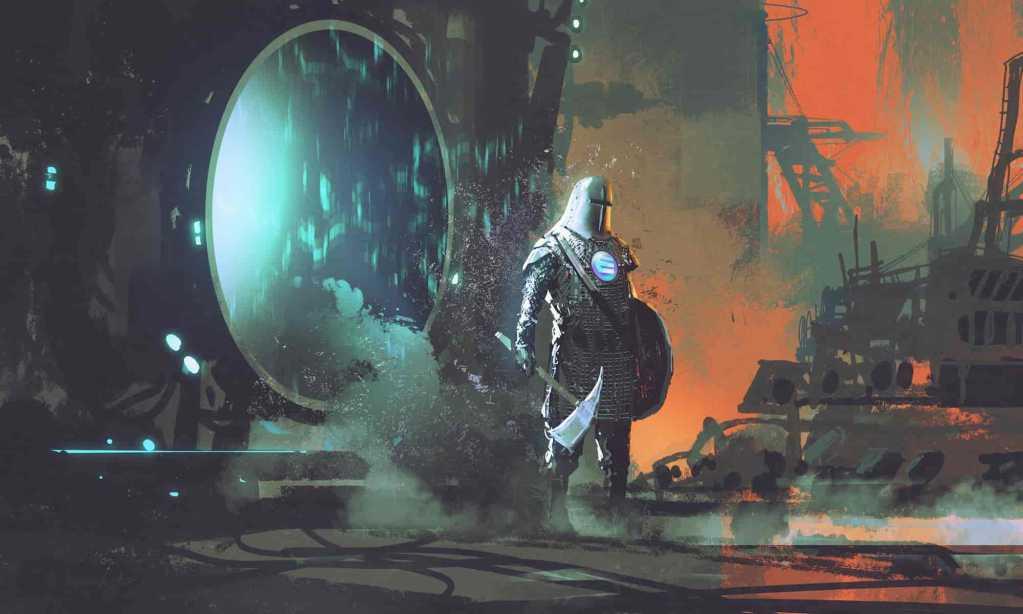 Soldado medieval do Enjin