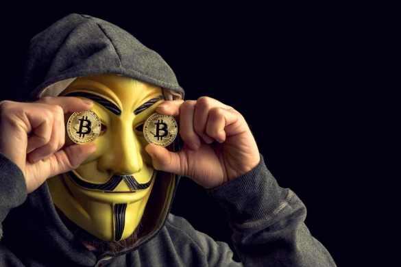 Anonymous com moedas de bitcoin