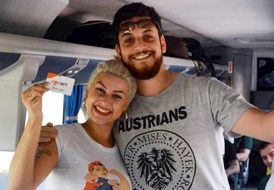Sara Winter já recebeu bitcoins de Raphaël Lima do Ideias Radicais