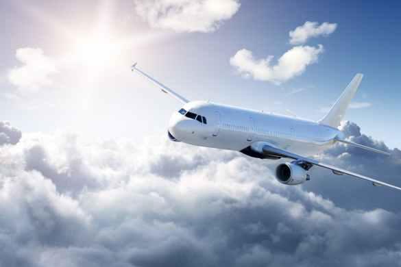 Avião em viagem