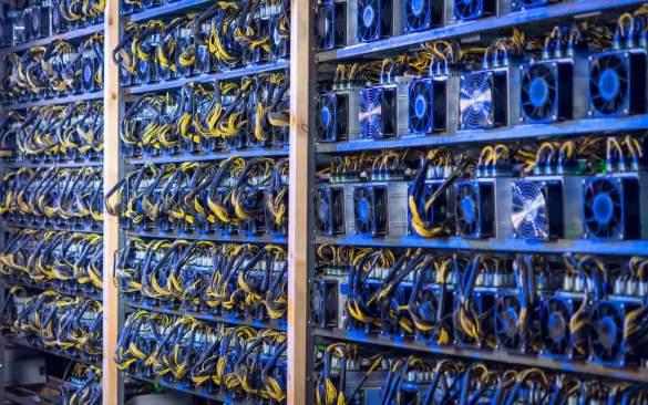 Rig de mineração de bitcoin