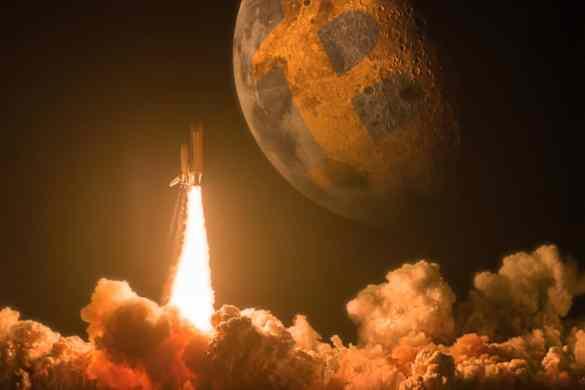 foguete bitcoin na lua