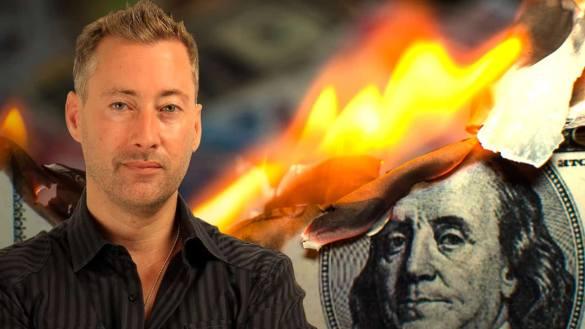 Dollar vigillante dólar queimando de fundo