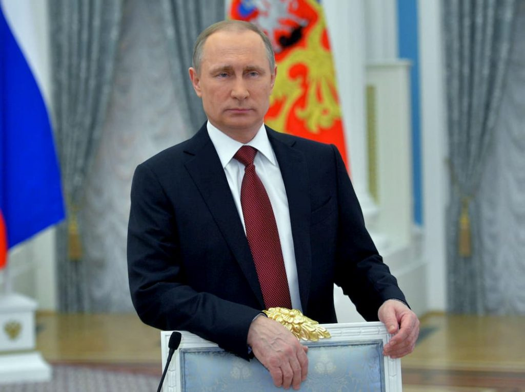 Putin em Moscou, na Rússia