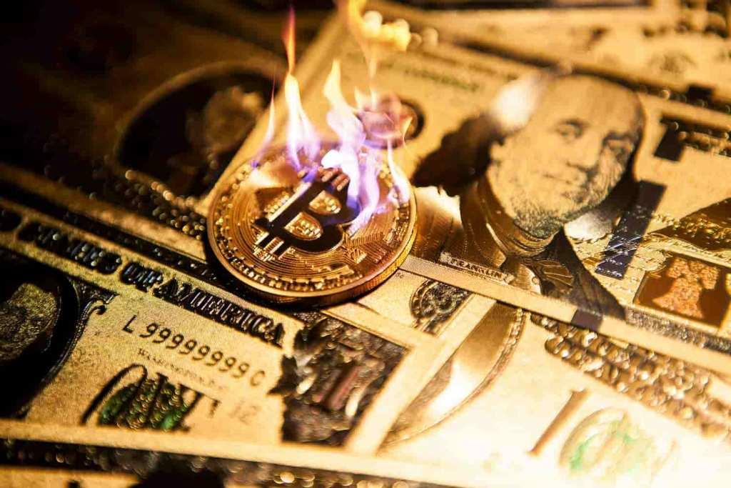 bitcoin pegando fogo