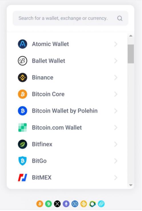 Tela de pagamento do aplicativo Just Eat utilizando Bitcoin. Qr Code. Pagamento utilizando diversas criptomoedas