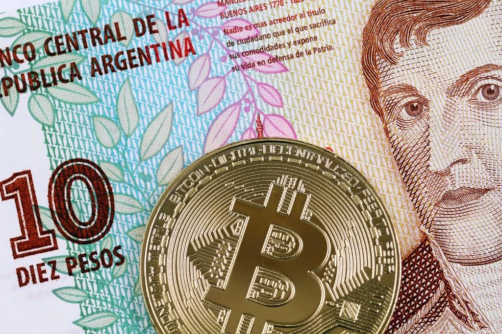 moeda argentina e moeda de bitcoin