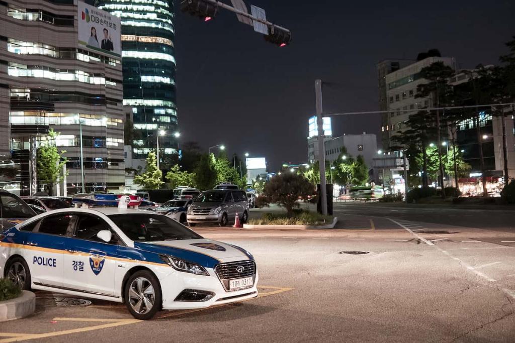 Polícia da Coréia do Sul