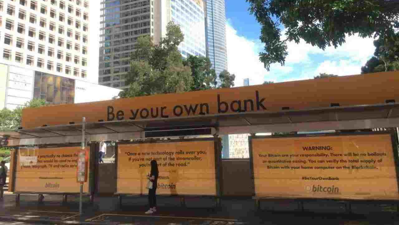 parada de autobús sea su propio banco