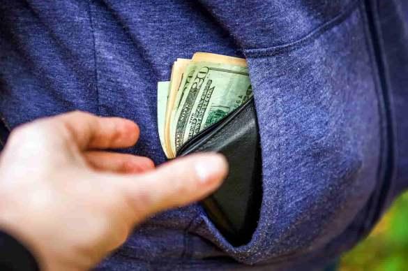 dinheiro roubado